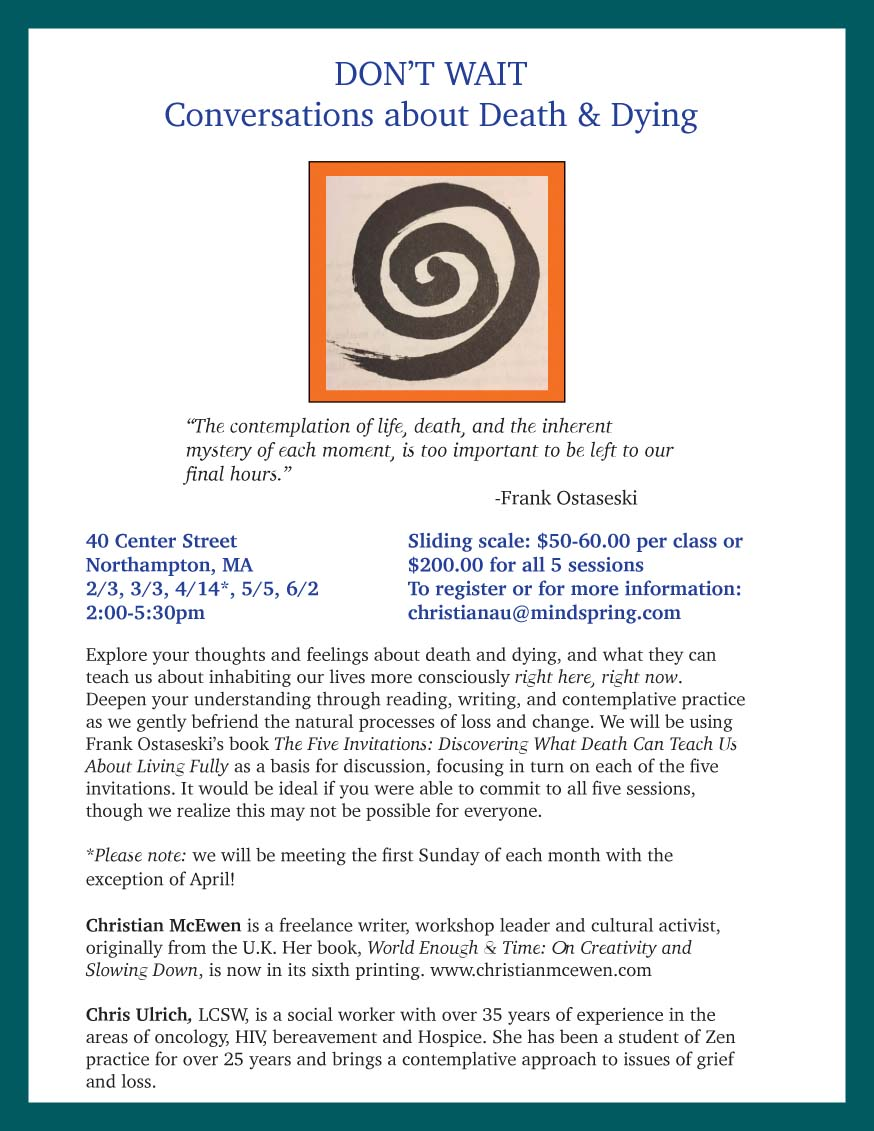 Upcoming Workshops | Christian McEwen